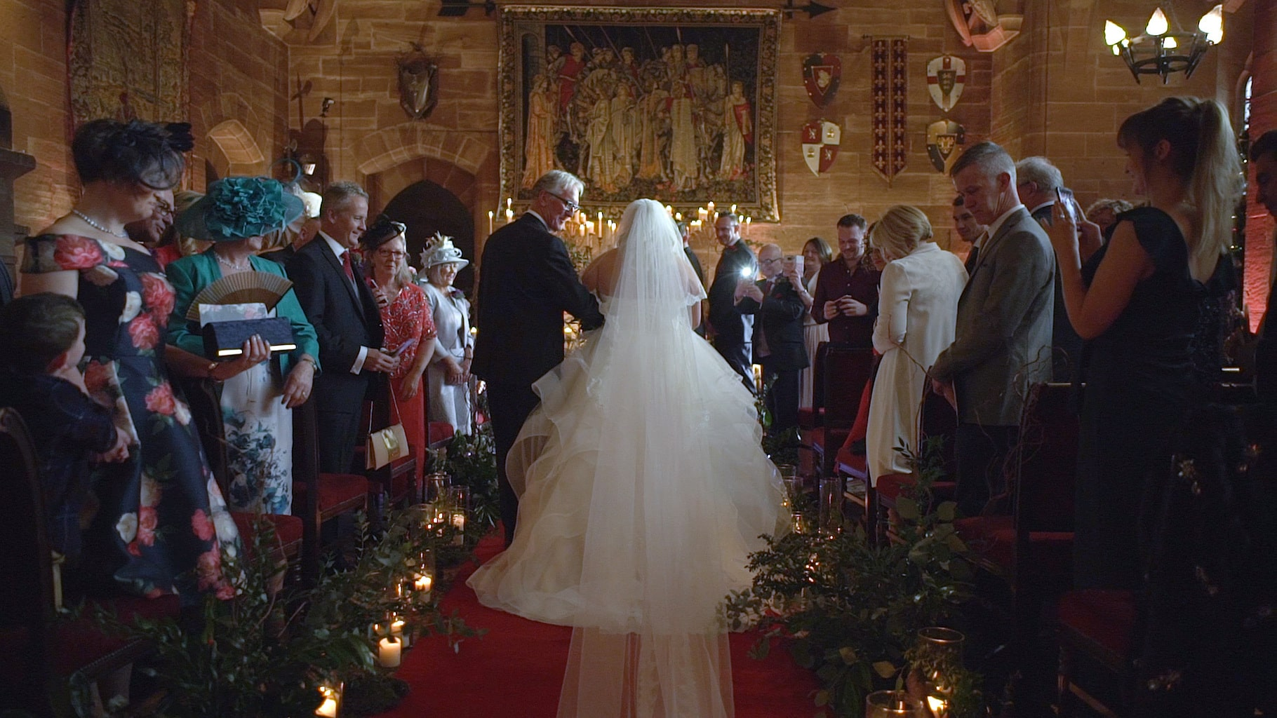 winter wedding at peckforton castle videography
